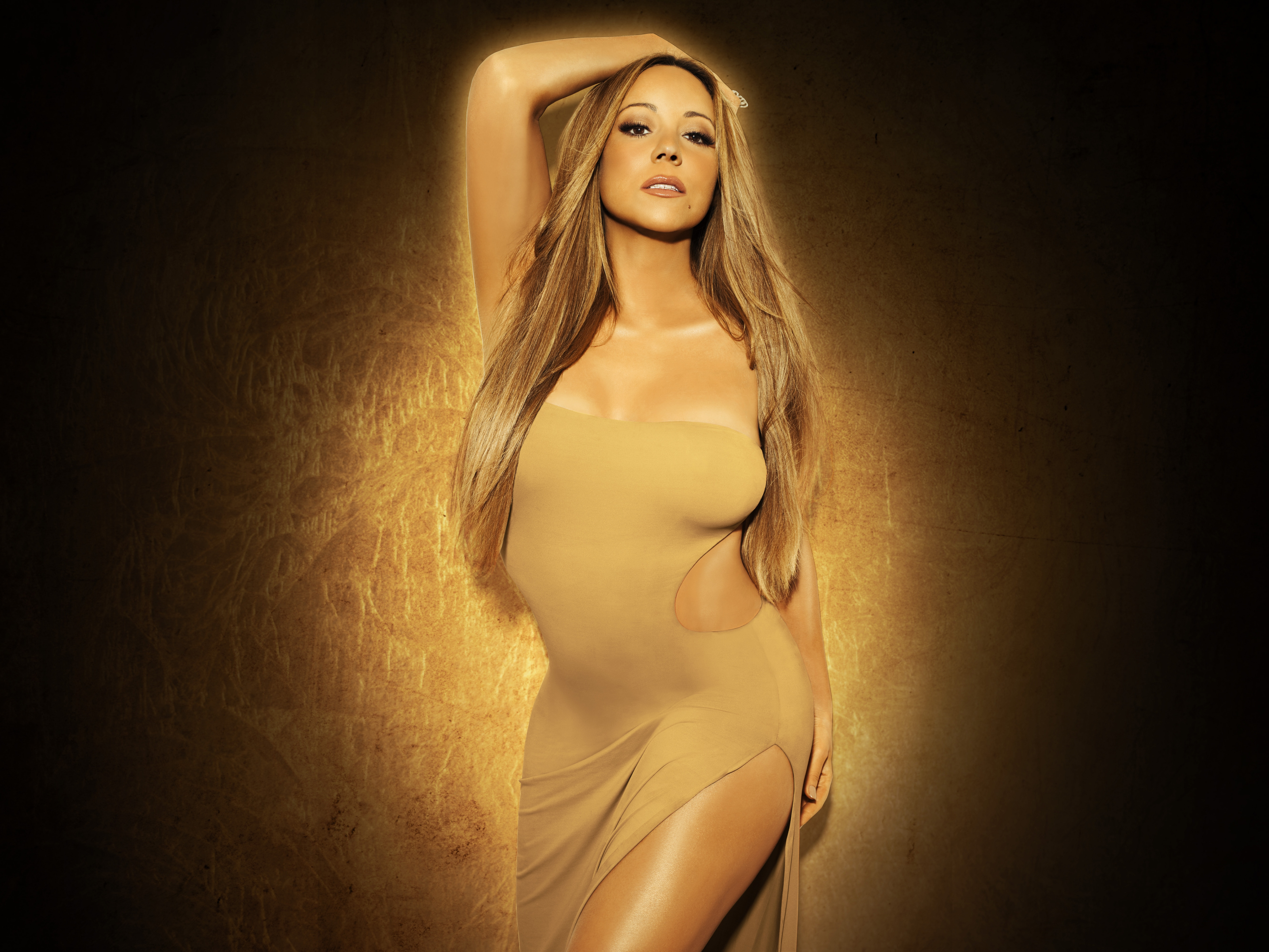 Mariah Carey feiert mit Rentieren