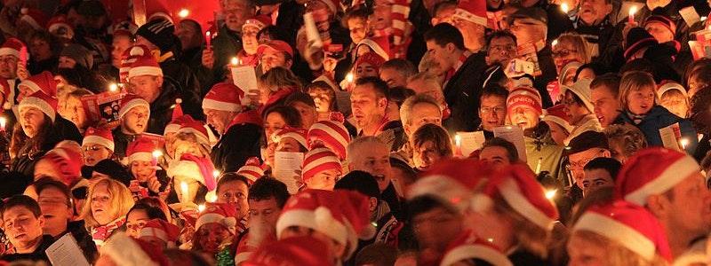Weihnachtssingen mit dem 1. FC Union Berlin