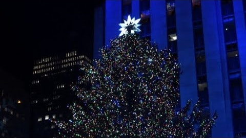 Rockefeller Christmas tree lights up in New York